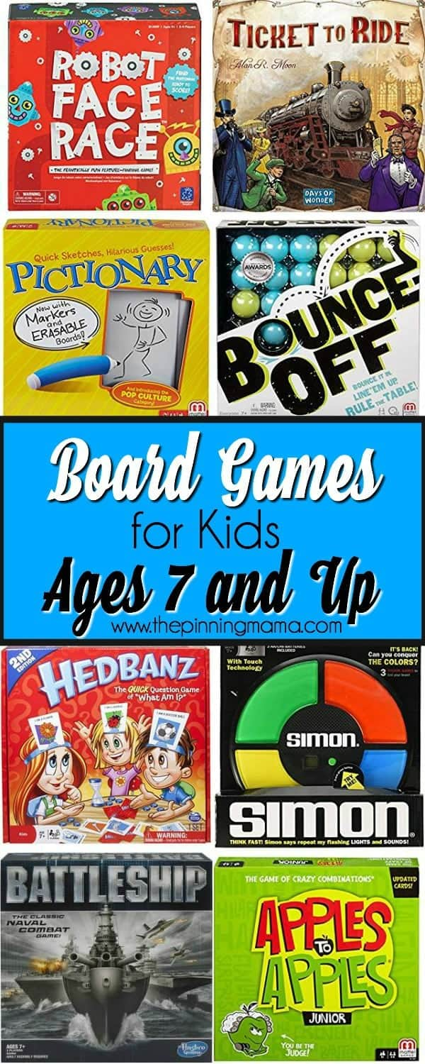 board game ideas for ages 7 and up