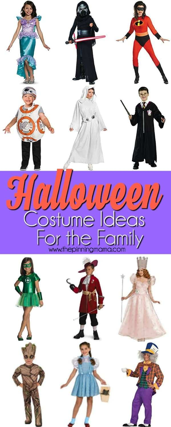 quick and easy to find halloween costumes  sc 1 st  The Pinning Mama & Family Ideas for Halloween Costumes u2022 The Pinning Mama