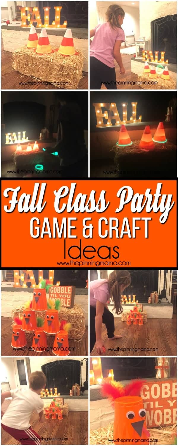 fall class party game and craft ideas