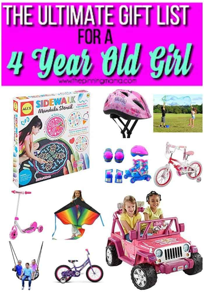 gift list outdoor play for 4 year old girl