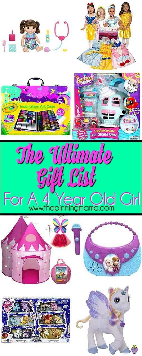 big list of gifts for a 4 year old girl