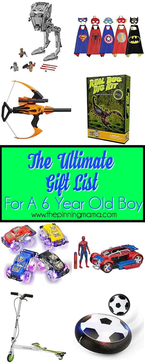 Best gift ideas for a 6 year old boy