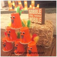 turkey bowling craft for school party