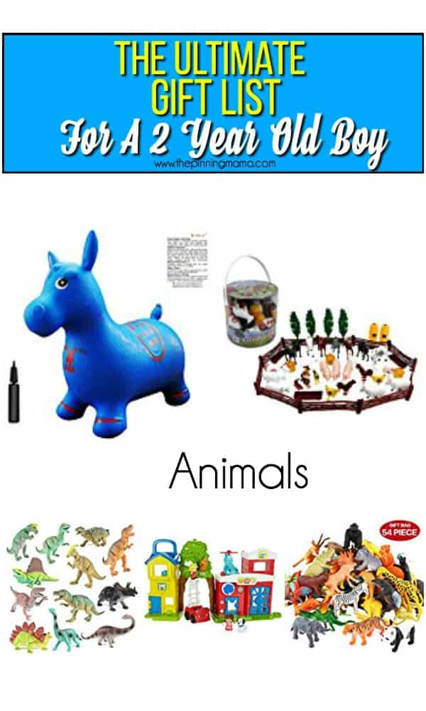 Animal toy list for a 2 year old boy The Ultimate Gift List Boy \u2022 Pinning Mama