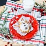 Cinnamon Roll Snowman- Easy Christmas Breakfast Idea!