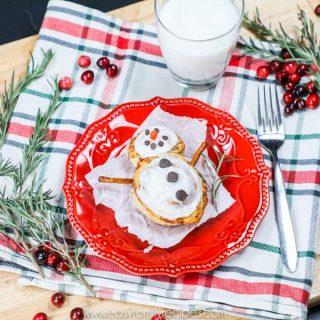 Winter Kids breakfast- Cinnamon Roll Snowman!