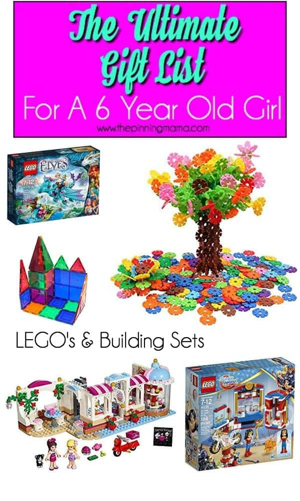 Lego and Building sets gift ideas for a 6 year old girl
