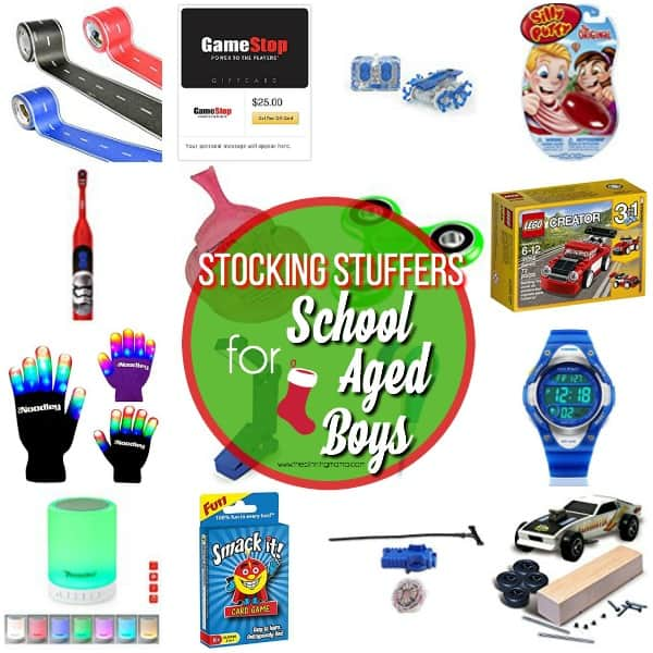 Great list of Stocking Stuffers for School Aged Boys