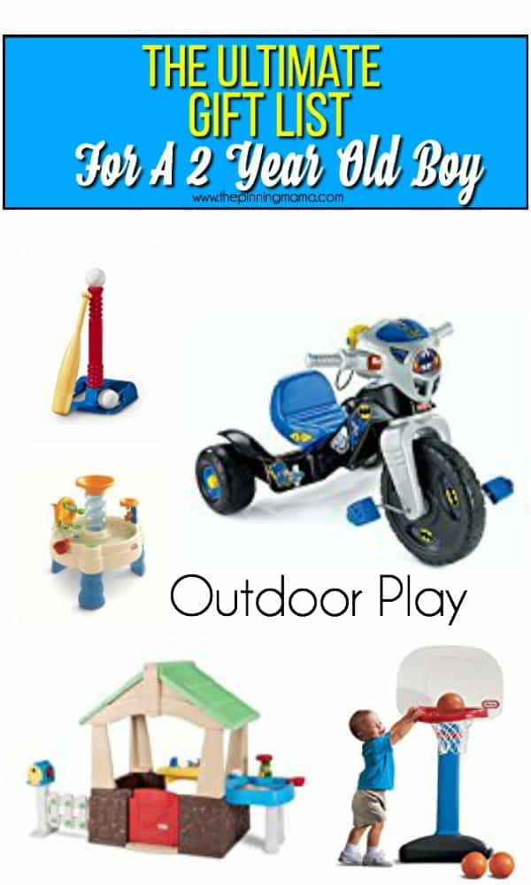 Gift List For A 2 Year Old Boy Outdoor Play