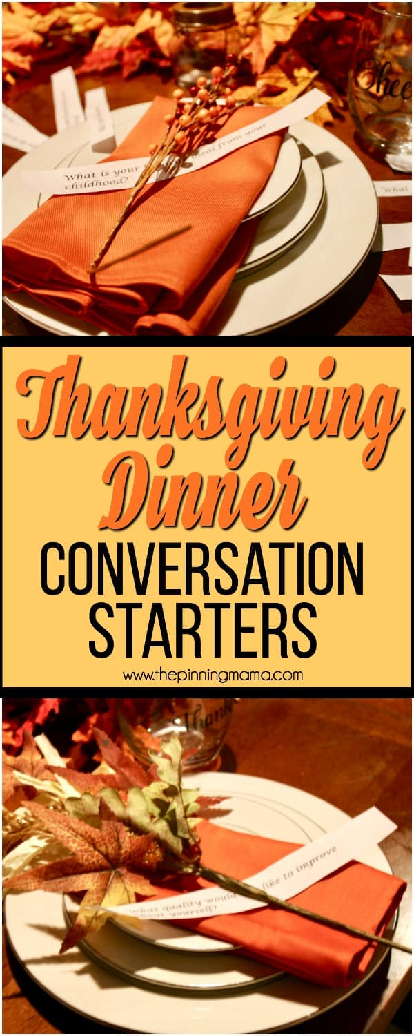 Thanksgiving Dinner Conversation Starters The Pinning Mama