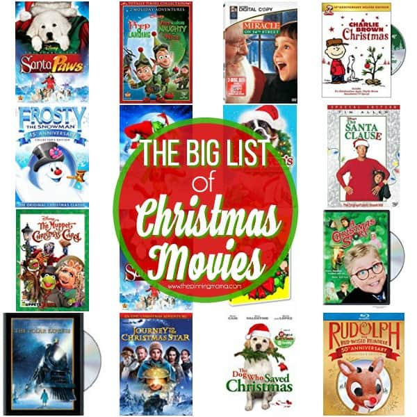 the big list of Christmas movies for the family to enjoy