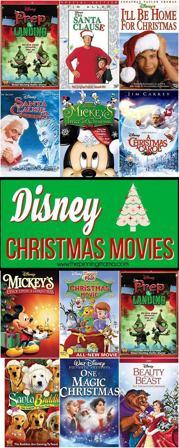the big list of Disney Christmas movies