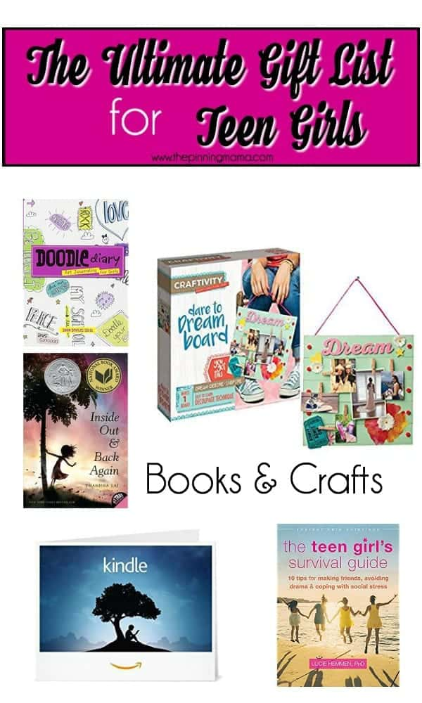 Big list of Books and Craft for Teenage Girls