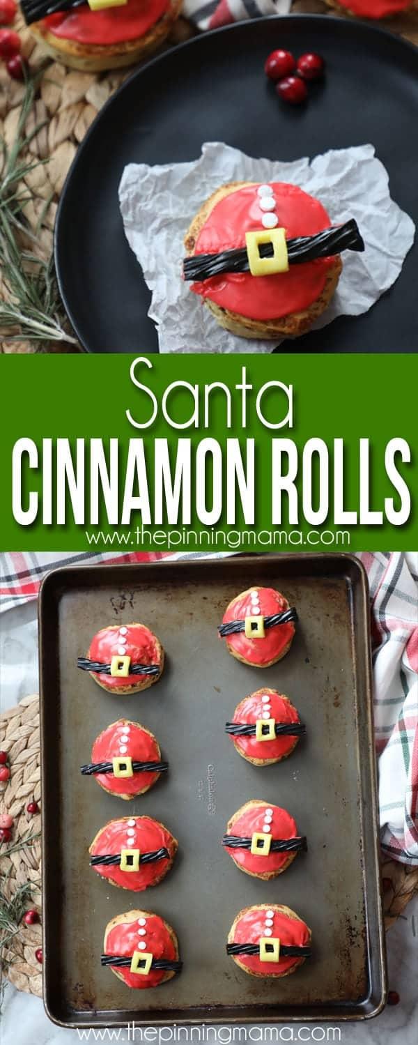 Easy Santa Cinnamon Rolls