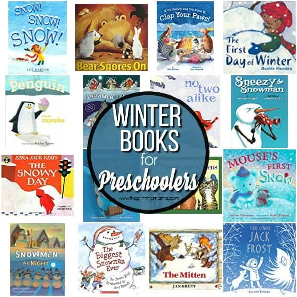 Find your big list of Winter books for your Preschooler here