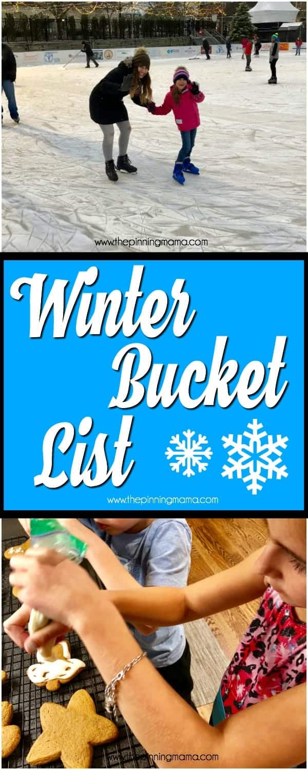 Winter Bucket List for the whole family to enjoy!