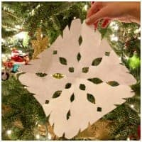 snowflake craft for school parties