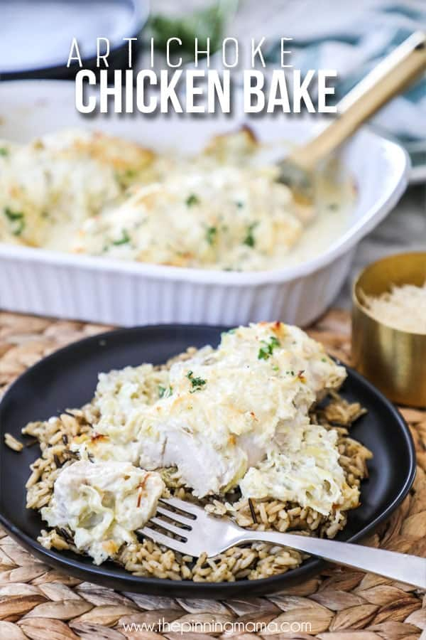 Artichoke Chicken served with rice