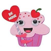 Be mine cupcake craft for school parties.
