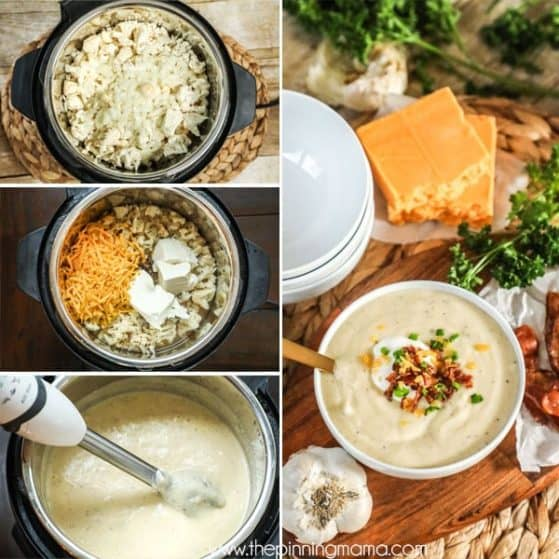 Cauliflower Soup made in Instant Pot