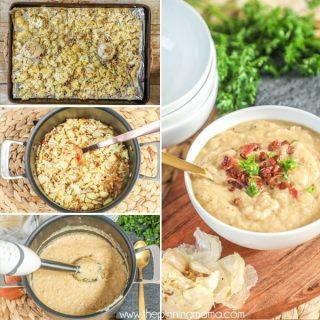 Whole30 Roasted Cauliflower Soup