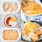 Step by Step Buffalo Chicken Casserole.