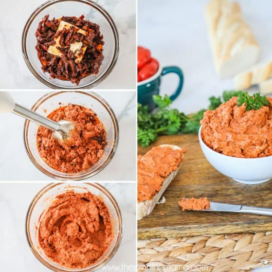 Sun Dried Tomato Spread Instructions