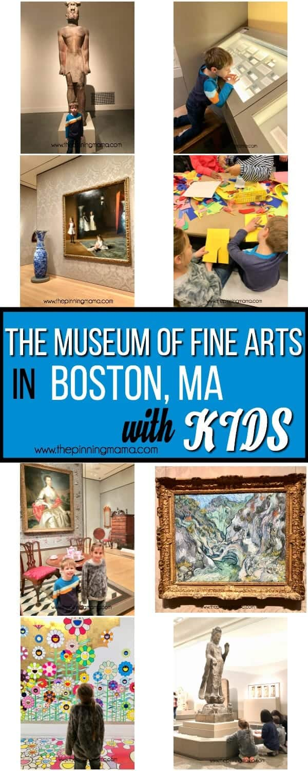 Visiting The Museum of Fine Arts in Boston MA with Kids.