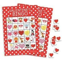 Valentine's Day BINGO for class parties.