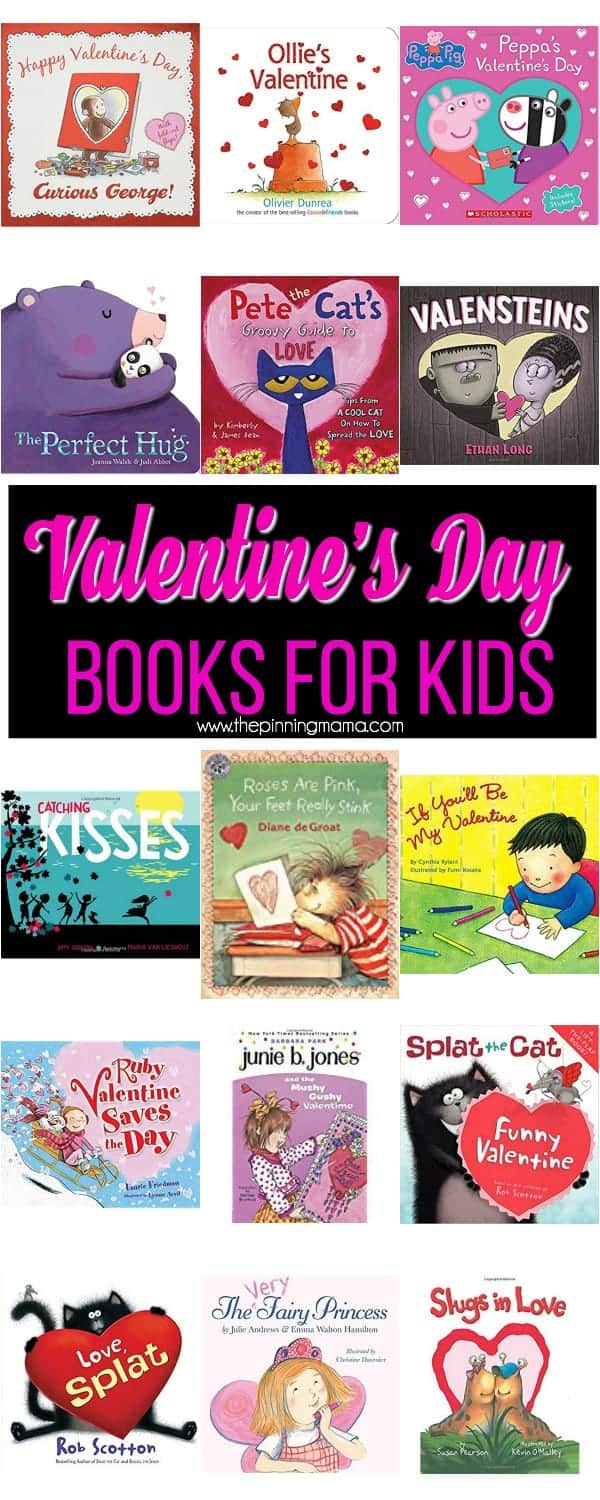 The big list of Valentine's Day book for Kids.