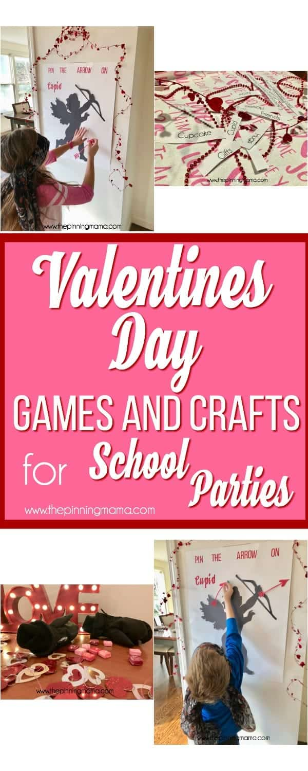 Valentine's Day Games and Crafts for School Parties.