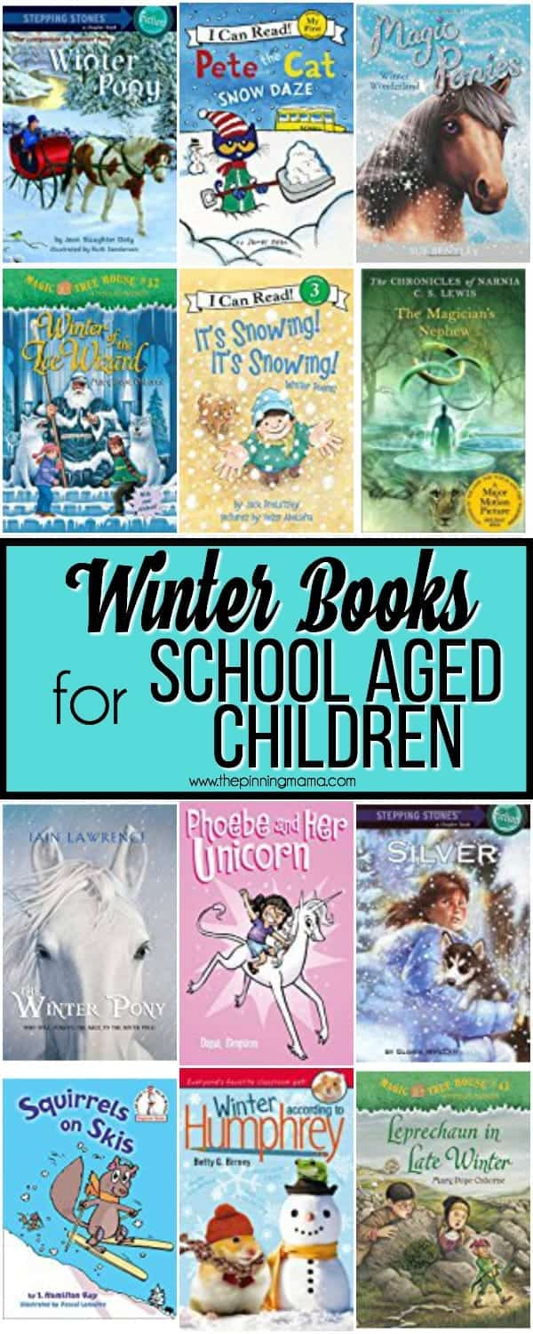 Big List of Winter Books for School Aged Children.