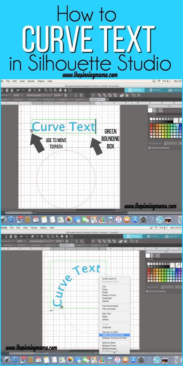 How to Curve Text in Silhouette Studio.