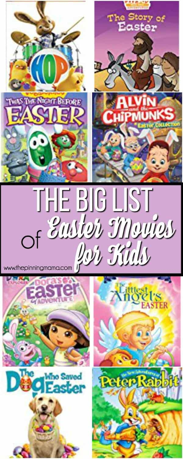 The Big List of Easter Movies for Kids.