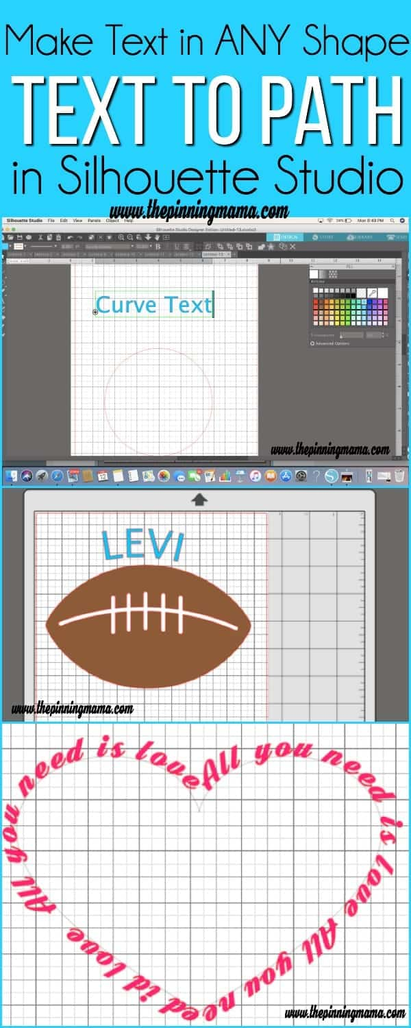 Make Text into ANY Shape, text to path in Silhouette Studio