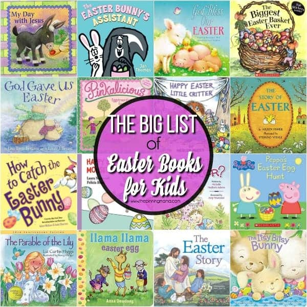 The ultimate list of Easter books for Kids.