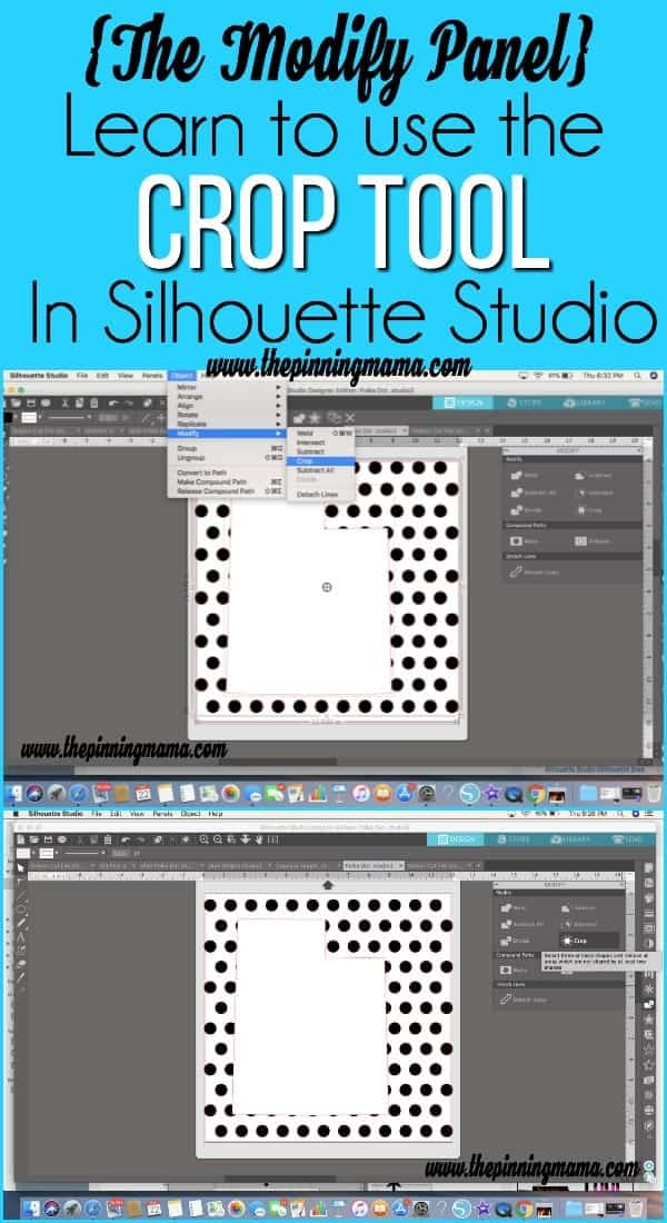 The Modify Panel in Silhouette Studio.