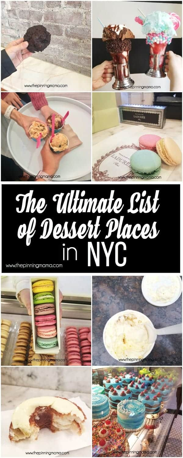 The Ultimate list of Desserts to try while in NYC.