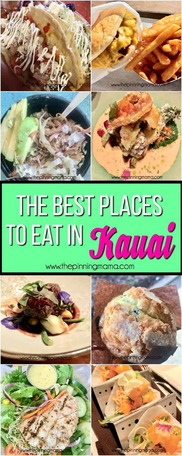 The big list of the best places to eat in Kauai, family friendly