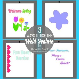 How to Weld Text and Shapes Silhouette Studio {Silhouette Boot Camp: Lesson 9}