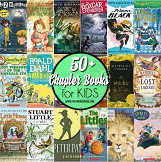 50 plus Chapter Books for school aged kids.