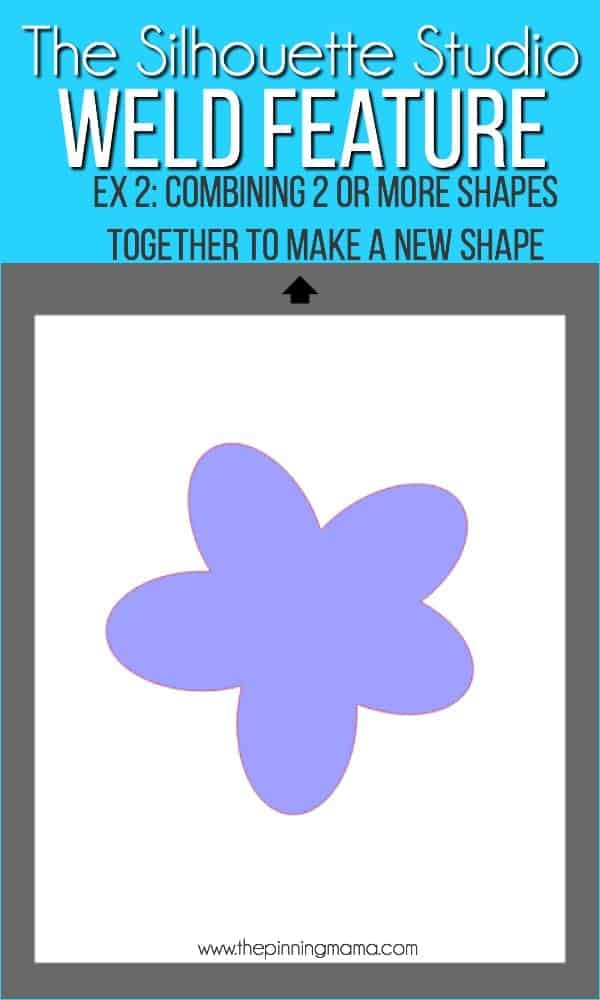 Combining 2 or more shapes to make a new shape using the Weld feature in Silhouette Studio.