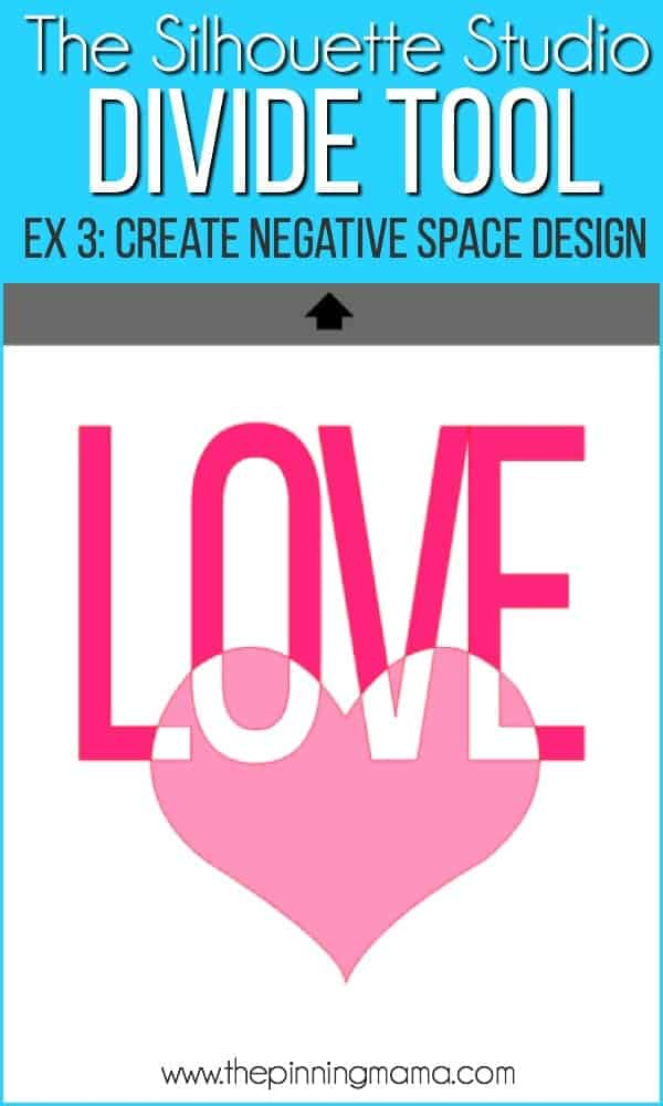 Create negative space designs using the divide tool in silhouette studio.