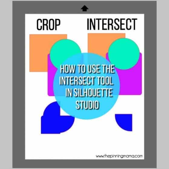 How to use the intersect tool in Silhouette Studio.