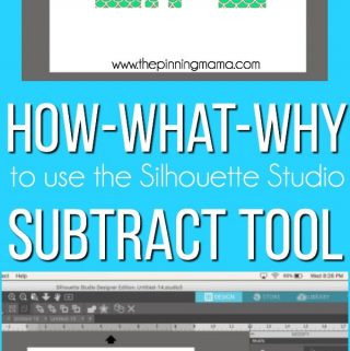 How to Subtract in Silhouette Studio {Silhouette Boot Camp: Lesson 7}