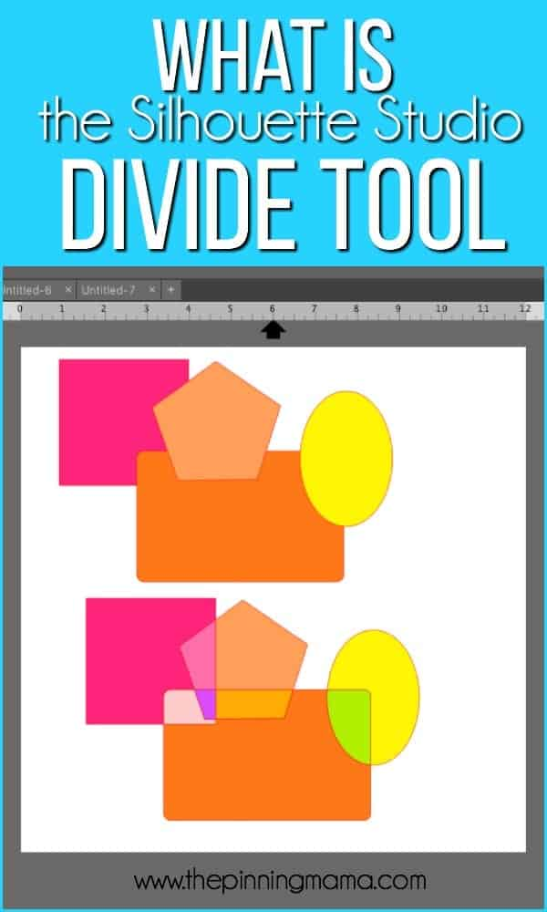 What is the Divide Tool in Silhouette Studio.