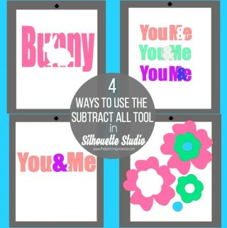 When to Use Subtract All in Silhouette Studio {Silhouette Boot Camp: Lesson 8}