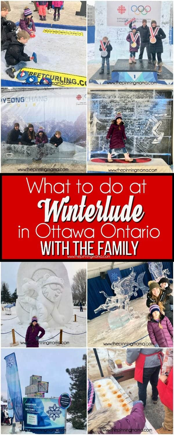 What to do at Winterlude Ottawa, Ontario with the family.