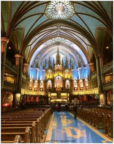 Basilica Notre-Dame de Montréal.