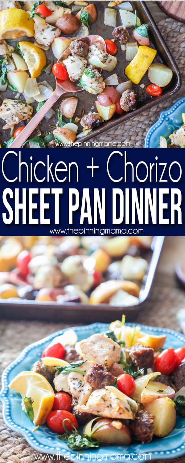 Delicious! Chicken and Chorizo Sheet Pan Dinner